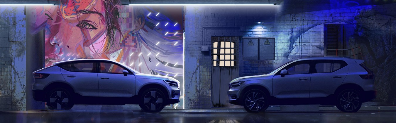 Das Design des Volvo C40 Recharge: Skandinavische Souveränität und elektrisierende Eleganz