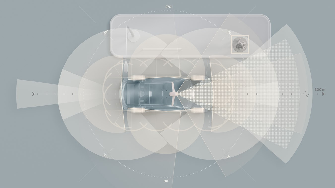 La Volvo solo elettrica di prossima generazione sarà equipaggiata di serie con tecnologia LiDAR e super computer basato sull'AI