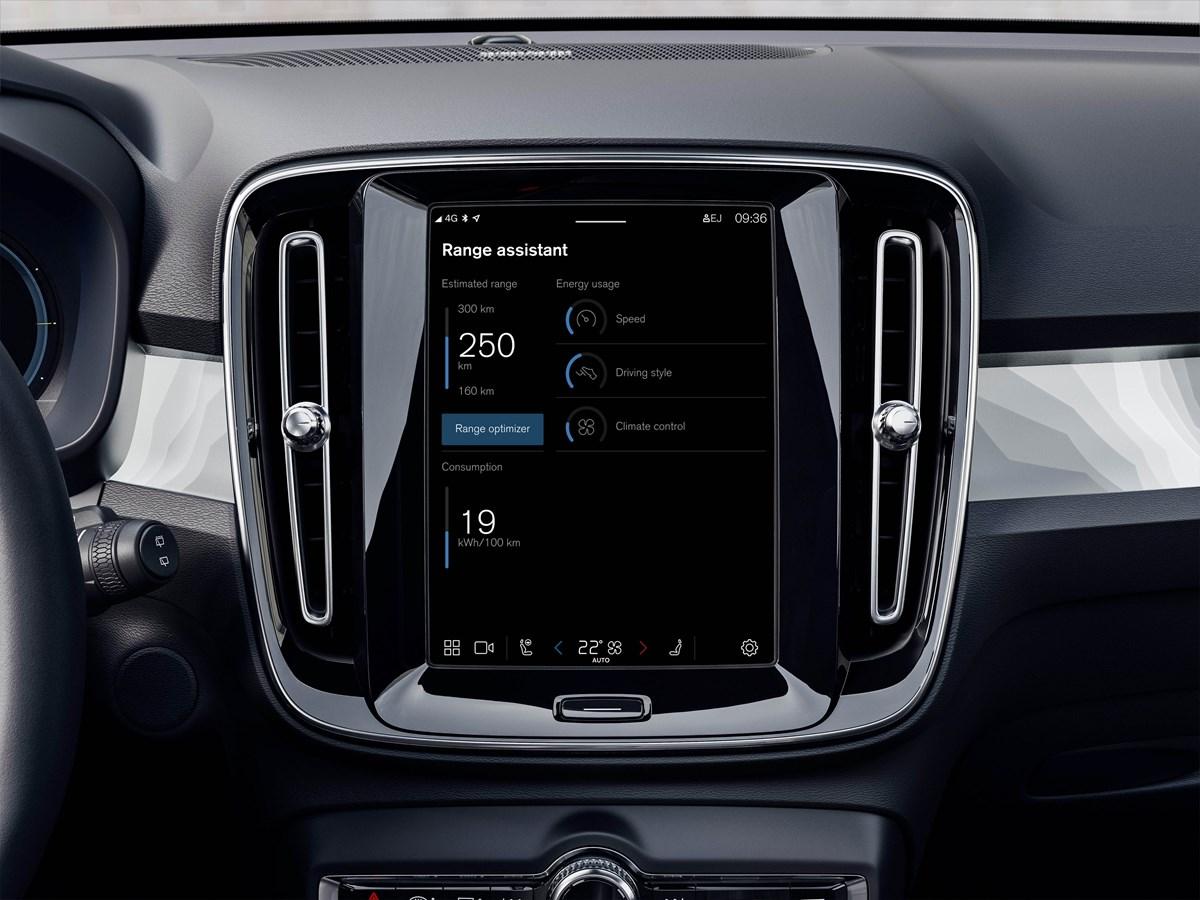 La nuova app Assistente autonomia migliora l'autonomia dei modelli Volvo completamente elettrici