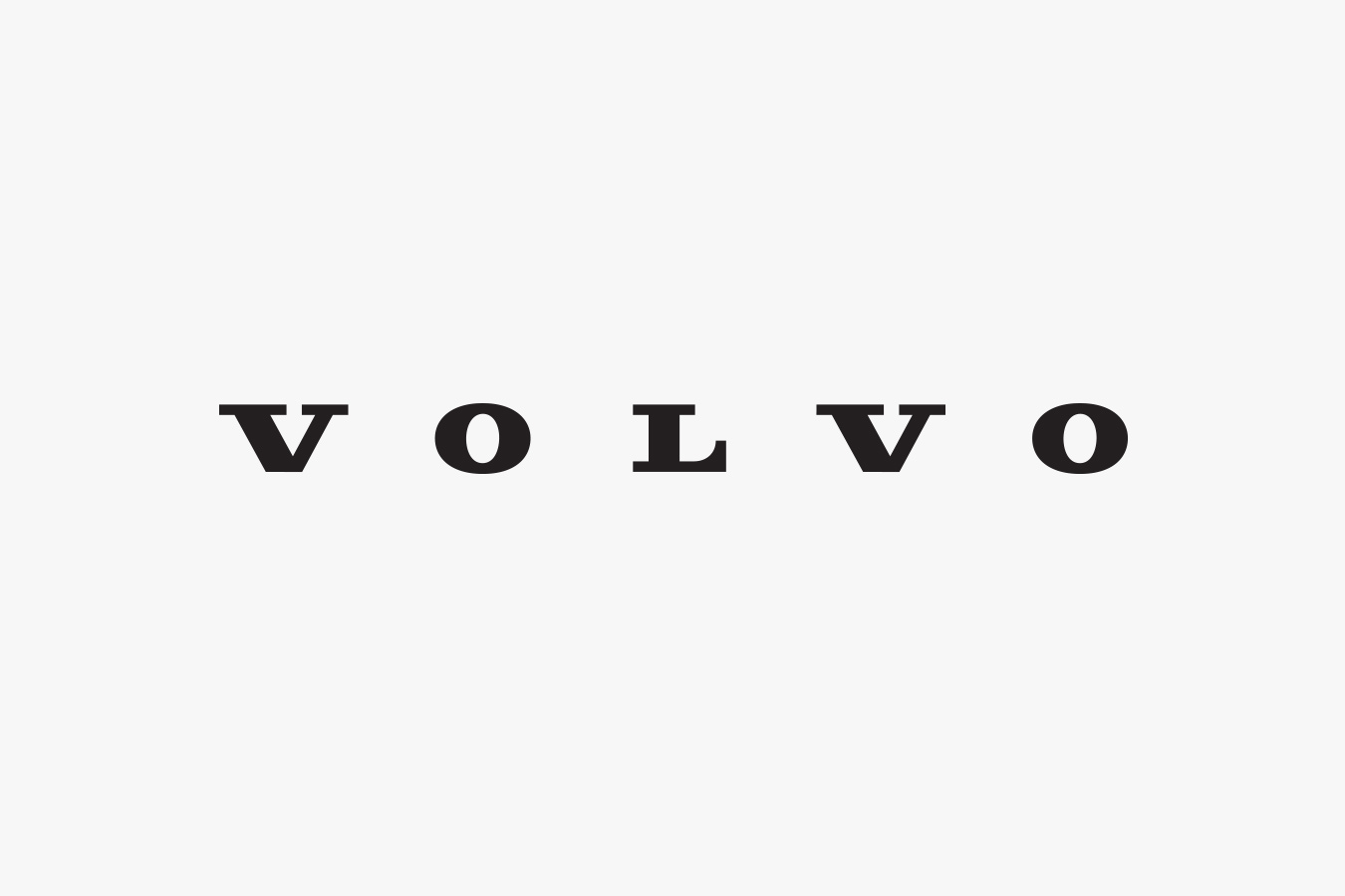 Volvo Logos - Iron Mark Grey 2014