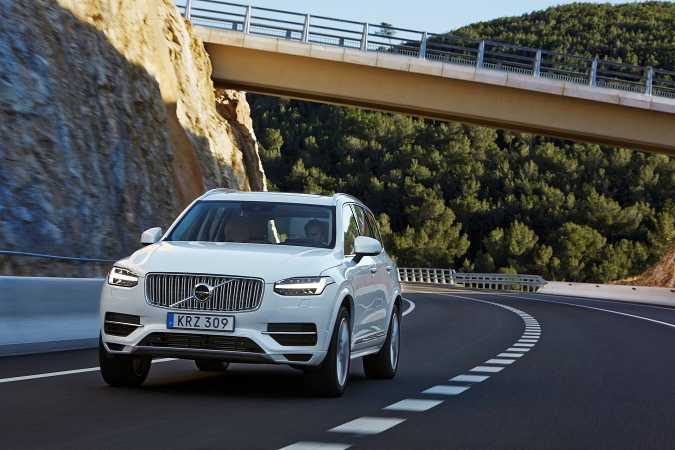 The new Volvo XC90 T8 Twin Engine petrol plug-in hybrid driven in Tarragona, Spain