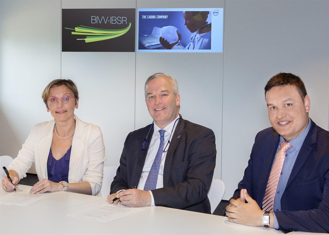 Volvo en BIVV gaan samen voor verkeersveiligheid - Volvo wordt lid van het Membership Programma BIVV -