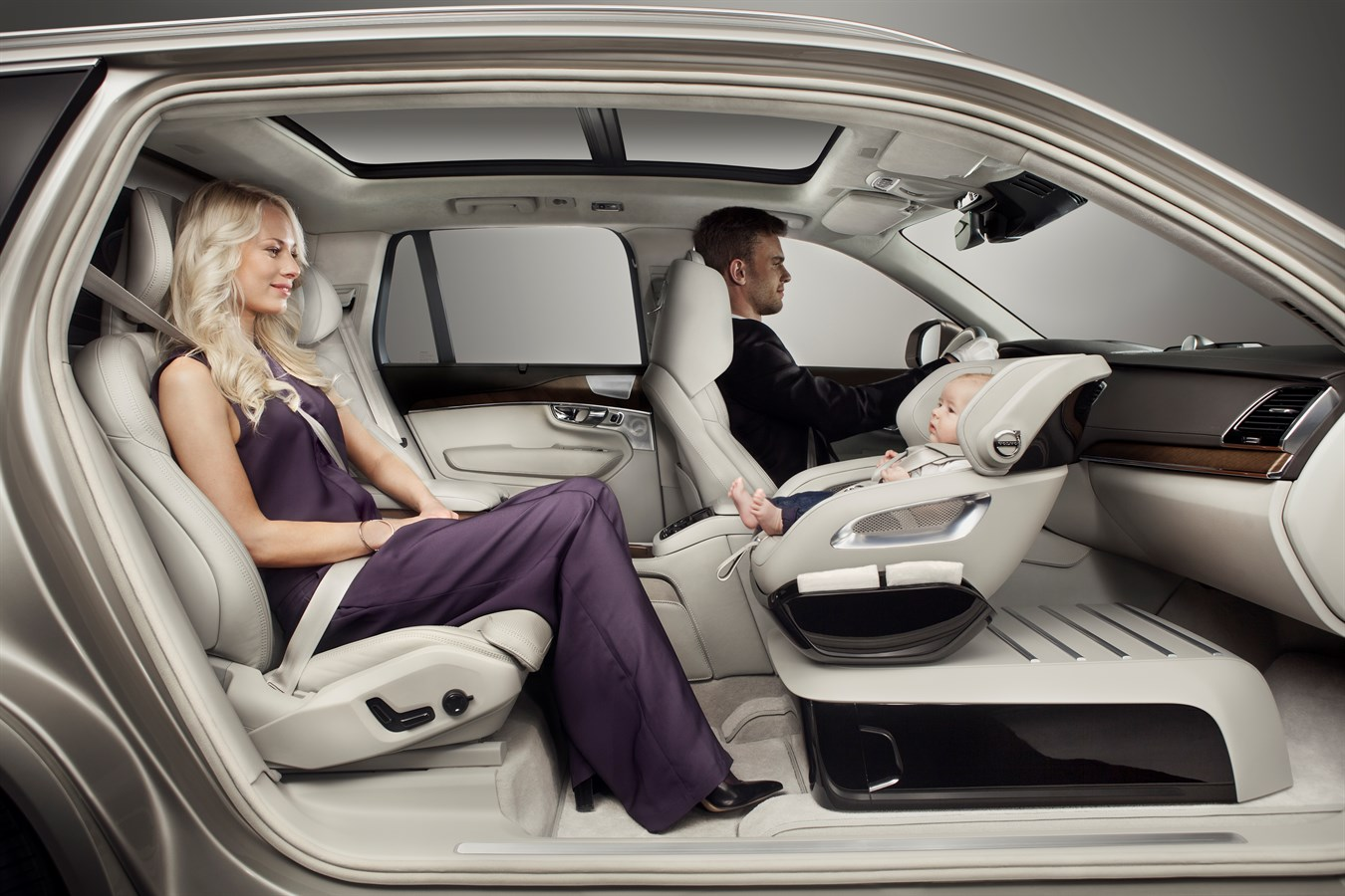 Volvo Cars Adds A Little Luxury With Excellence Child Safety Seat Concept Car Usa Newsroom