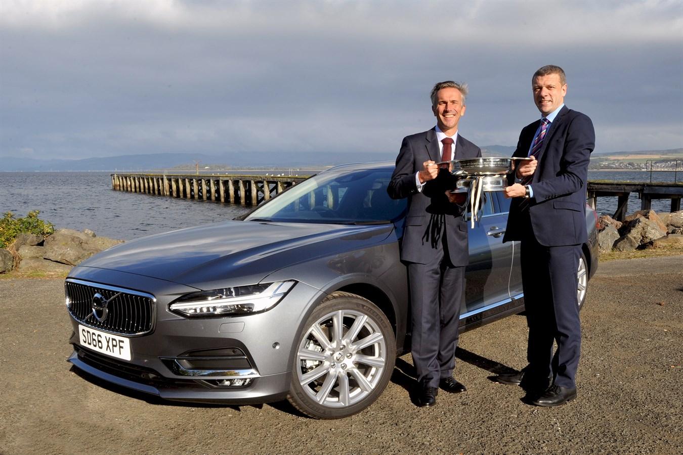 Jon Wakefield Stephen Park And The Award Winning Volvo V90 Volvo Car Uk Media Newsroom