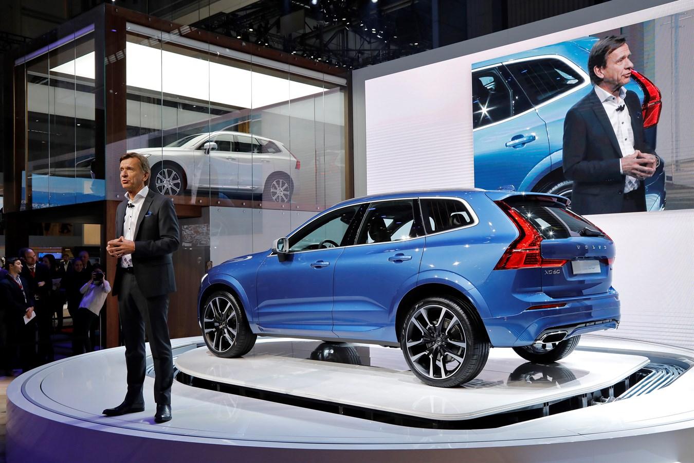 Nouveau Volvo XC60 Salon de Genève & Hakan Samuelsson President et CEO Volvo Car Group - 7 mars 2017 photo@Ace Team pour Volvo Car France, usage presse et réseaux sociaux exclusivement