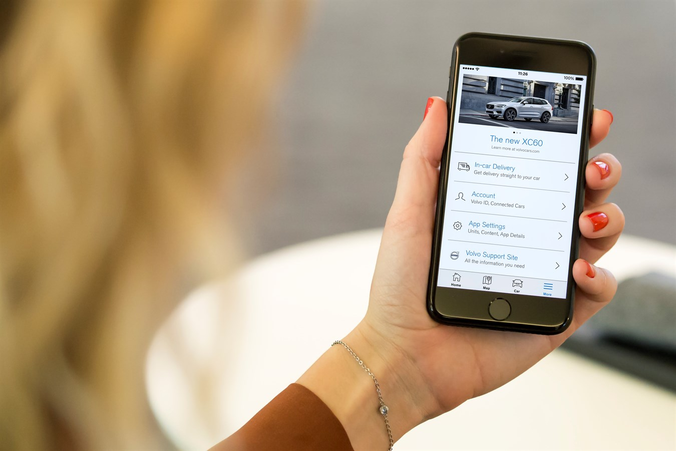 Volvo On Call – the main entry point for connected services.