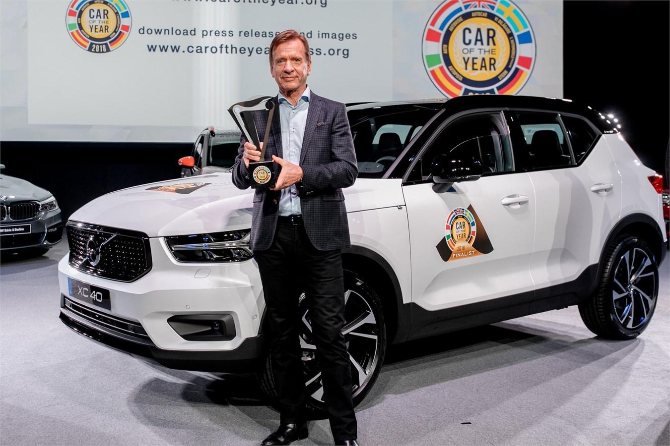 Volvo Car Group President & CEO Håkan Samuelsson at the European Car of the Year award ceremony