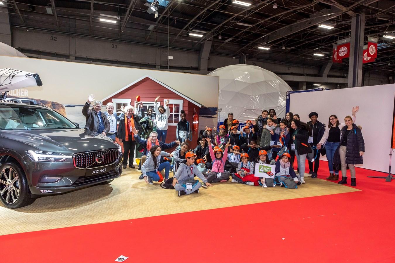Les Z'enfants de l'Auto ont répondu présent à l'invitation de Volvo Cars sur le Nautic
