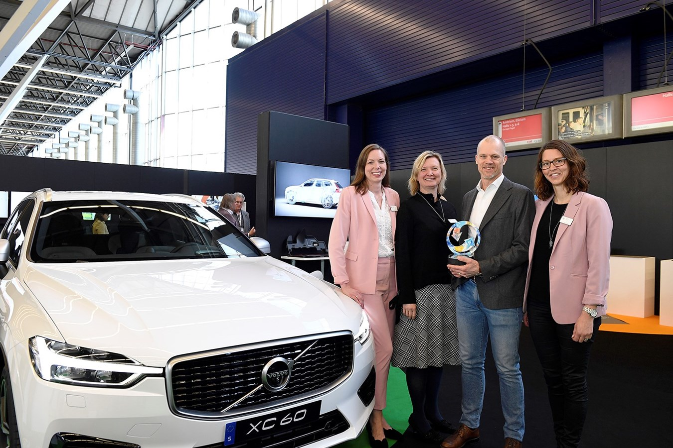Volvo Cars sustainability ambitions recognised at Plastics Recycling Awards Europe