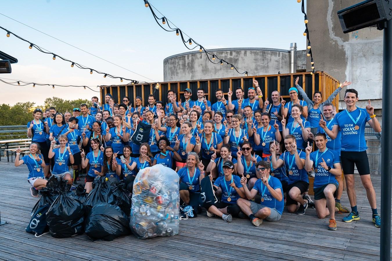 Volvo Cars Plogging - Lyon @chloe_penderie et @happyrunningcrew