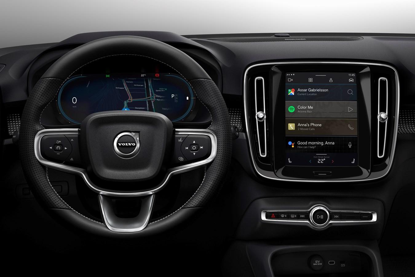 Le Volvo XC40 100 % électrique bénéficiera d'un tout nouveau système multimédia signé Android et doté des technologies Google