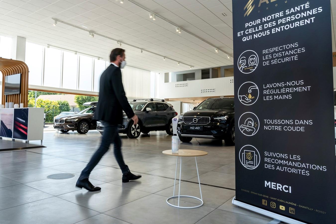Nouvelles procédures sanitaires dans le réseau Volvo