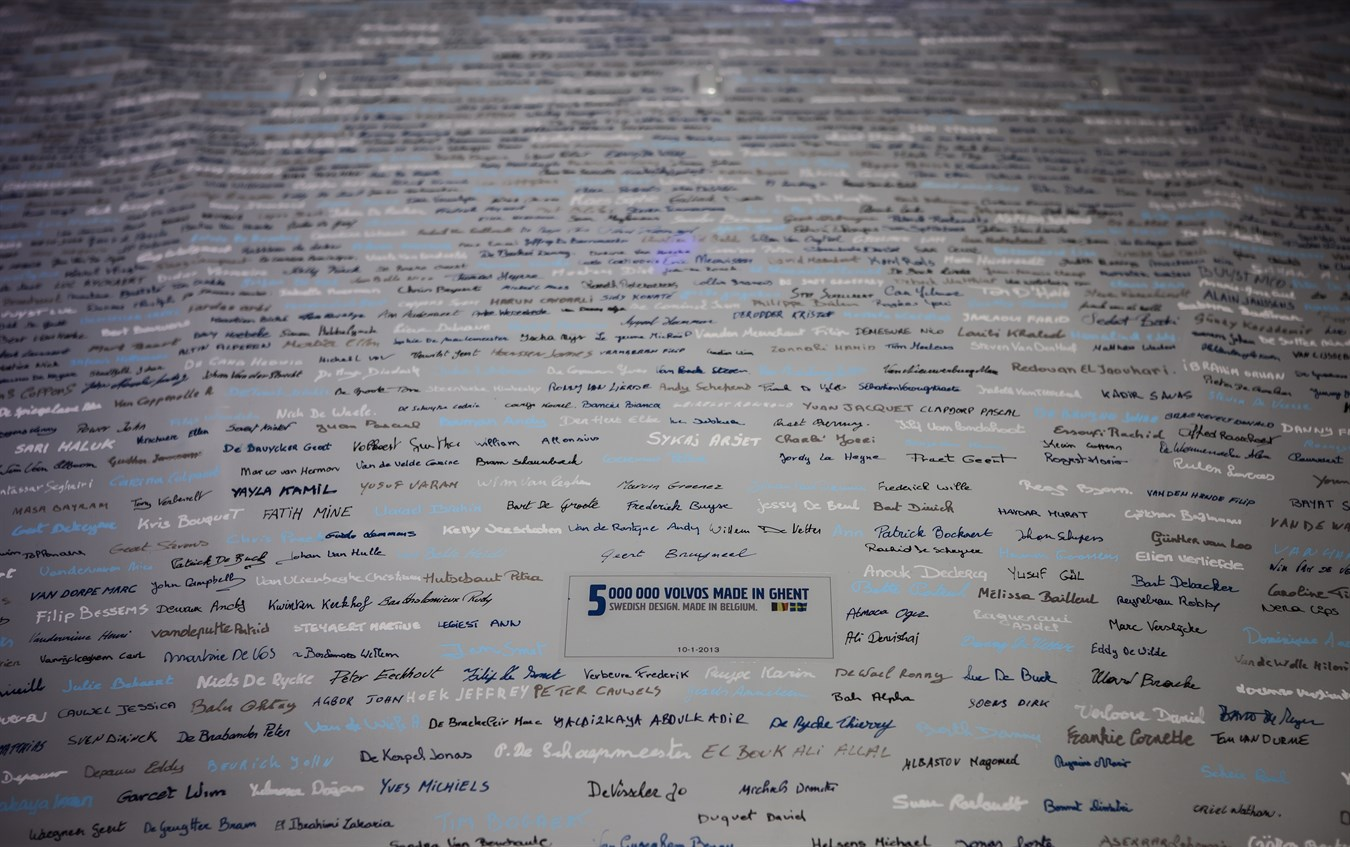 Five million Volvo cars built in Ghent