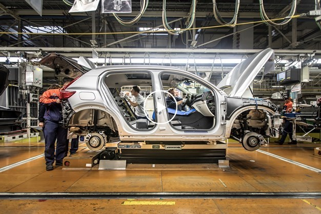 B-roll, new Volvo XC40 pre-production in Ghent, Belgium