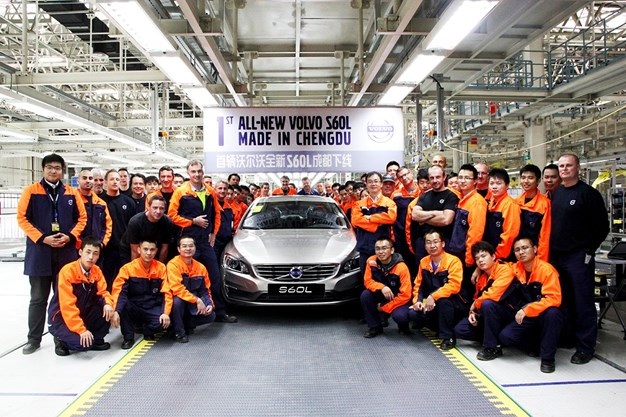 Volvo Car Group starts series production of the Volvo S60L at Chengdu manufacturing plant
