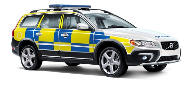 Model year 2014 Volvo XC70 D5 AWD police car (UK livery)