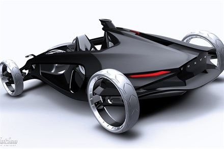 Volvo Air Motion - an ultra light clam shell sculptured vehicle