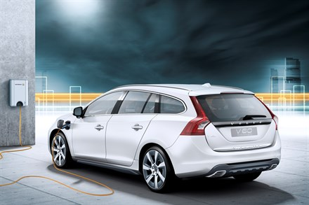 Volvo Car Corporation first with next-generation hybrids - the V60 Plug-in Hybrid is three cars in one