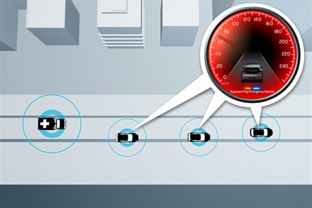 VOLVO CAR CORPORATION AMELIORE LA SECURITE GRACE AUX VOITURES COMMUNICANTES