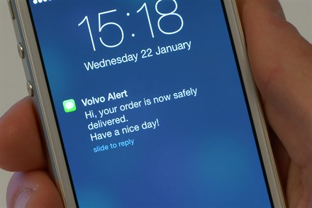 Volvo Cars demonstrates the potential of connected cars with deliveries direct to people's cars