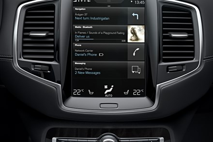 The all-new Volvo XC90 - voice control animation