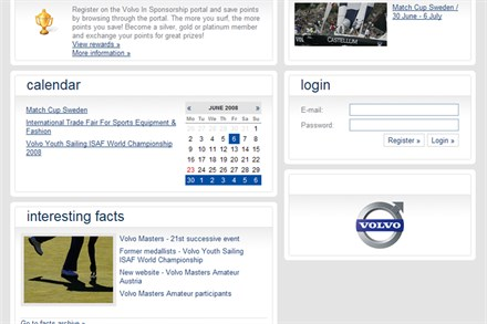 New Volvo in Sponsorship Portal Launched