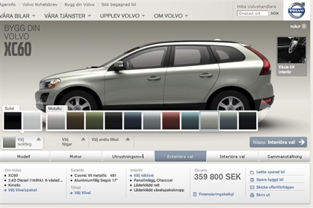 Volvo Car Corporation launches new car building tool online