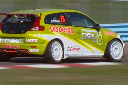 Volvo Cars new Swedish Touring Car Championship racing car – a Volvo C30 DRIVe (video still)