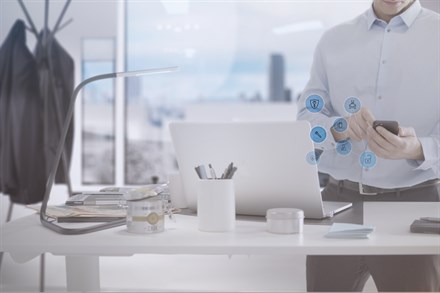 Phone with a range of Volvo concierge services