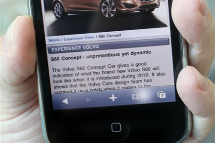 Volvo drives straight into mobile phones