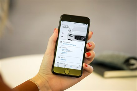 Keep track of your cars and stay in full control with Volvo On Call
