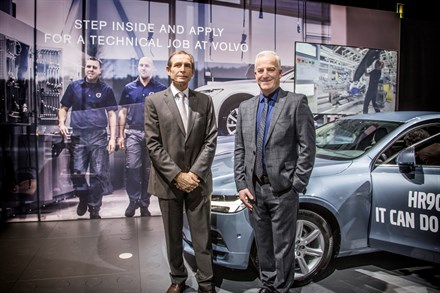 VOLVOCAR Brussels Motor Show 2018 :recruitment with a car (artificial intelligence)