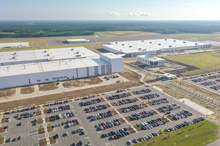 Volvo Cars pre-production B-roll Charleston factory and city of Charleston