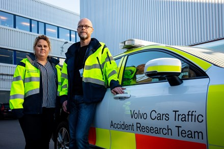 Article about Volvo Cars' Accident Research Team
