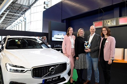 Volvo Cars sustainability ambitions recognised at Plastics Recycling Awards