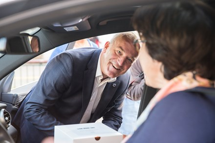 Slow Down Cake by Volvo Cars - Wim Maes, CEO Volvo Car Belux