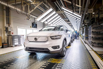 Volvo Cars starts production of fully electric XC40 Recharge