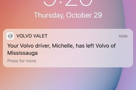 Volvo Cars Canada rolls out Volvo Valet, a contactless delivery service app, as a new approach to service convenience and safety