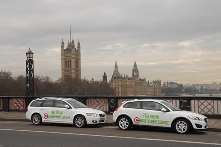 VOLVO CELEBRATES CONGESTION CHARGE CHANGES WITH FREE LOW-EMISSION CHAUFFEUR SERVICE