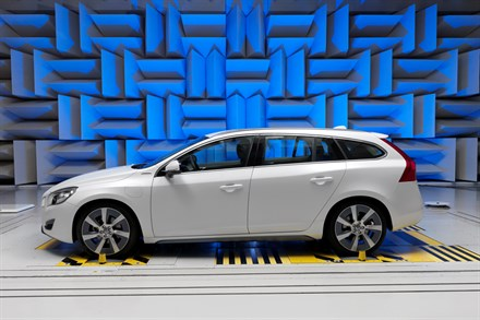 Volvo Car Corporation's experts develops the perfect electric-car sound in one of the industry's most modern acoustic labs