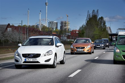 Volvo Car Corporation takes the strain out of the daily commute with a technology that automatically follows the vehicle in front