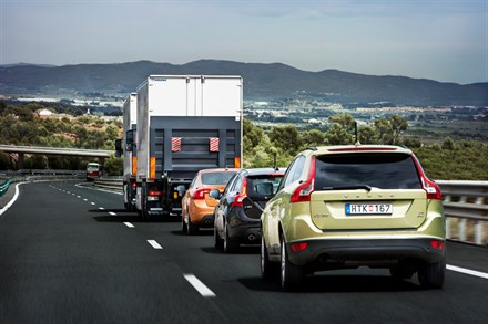 Volvo Car Corporation concludes following the SARTRE project: Platooned traffic can be integrated with other road users on conventional highways
