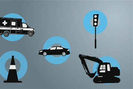 Volvo Car Corporation improves safety with communicating cars (video still)