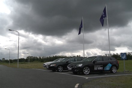 Volvo Cars reveals world-class safety and support features - B-roll video still
