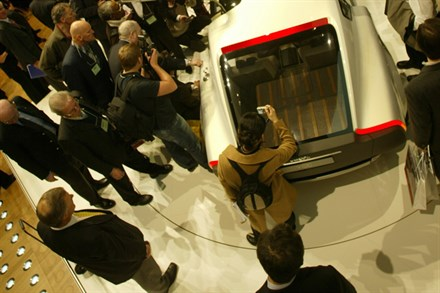 Volvo reveal the YCC Volvo concept car, design by an all female team, at the Geneva Motor Show.