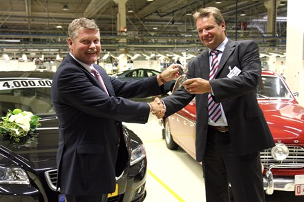 FOUR MILLION VOLVO CARS BUILT IN GHENT PLANT