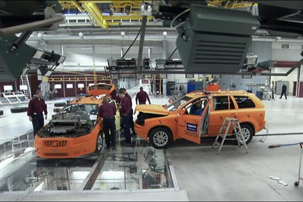 Volvo Car Crash Test Laboratory celebrates 10 Years in 2010. (1:29 minutes)